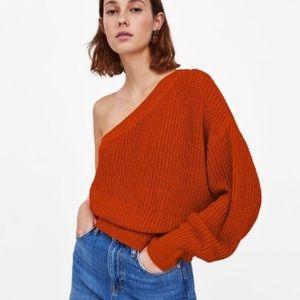 Zara one shoulder sweater